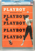 Magazines:Miscellaneous, Playboy #4 (HMH Publishing, 1954) CGC FN+ 6.5 White pages....
