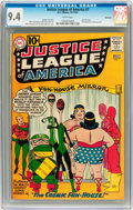 Silver Age (1956-1969):Superhero, Justice League of America #7 Savannah pedigree (DC, 1961) CGC NM9.4 White pages....