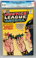 Silver Age (1956-1969):Superhero, Justice League of America #10 Savannah pedigree (DC, 1962) CGC NM9.4 Off-white pages....