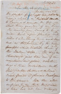 "Autographs:Authors, Harriet Beecher Stowe Autograph Manuscript Signed ""HBStowe"". ..."