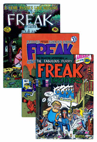 The Fabulous Furry Freak Brothers Group (Rip Off Press, 1971-77).... (Total: 9 Comic Books)