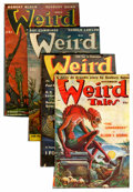Pulps:Horror, Weird Tales Pulp Group (Popular Fiction, 1938-49) Condition:Average VG.... (Total: 4 Items)