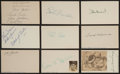 Baseball Collectibles:Others, St. Louis Baseball Greats Signed Index Cards Lot of 9....