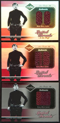 "Football Cards:Singles (1970-Now), 2003 Leaf ""Limited Threads"" Jim Thorpe Jacket Swatch Card Trio (3)- All Numbered Limited Editions. ..."
