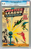 Silver Age (1956-1969):Superhero, Justice League of America #12 Savannah pedigree (DC, 1962) CGC NM9.4 Off-white pages....