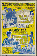 "Movie Posters:Adventure, The Hell Hole Named Panama/The Spoilers of the South Seas Combo (Unknown, 1940s). One Sheet (27"" X 41""). Adventure.. ..."