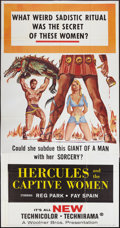 "Movie Posters:Adventure, Hercules and the Captive Women (Woolner Brothers, 1963). ThreeSheet (41"" X 81""). Adventure.. ..."