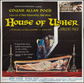 "Movie Posters:Horror, House of Usher (American International, 1960). Six Sheet (81"" X 81""). Horror.. ..."