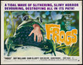 "Movie Posters:Horror, Frogs (American International, 1972). Half Sheet (22"" X 28""). Horror.. ..."