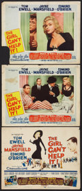 "Movie Posters:Comedy, The Girl Can't Help It (20th Century Fox, 1956). Title Lobby Card & Lobby Cards (2) (11"" X 14""). Comedy.. ... (Total: 3 Items)"