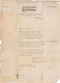 Autographs:Celebrities, Amelia Earhart Typed Letter Signed and Oversized Photograph. ...(Total: 2 Items)