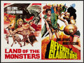 "Movie Posters:Adventure, Revenge of the Gladiators / Land of the Monsters (Miracle Films,R-1975). British Quad (30"" X 40""). Adventure.. ..."
