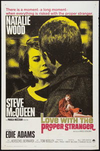 "Love with the Proper Stranger (Paramount, 1964). One Sheet (27"" X 41""). Romance"