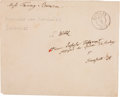Autographs:Inventors, Alexander von Humboldt Envelope Addressed in His Hand. The Germanexplorer and naturalist has addressed this envelope in Ger...