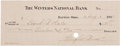 "Autographs:Inventors, Wright Brothers' Check. The check (8.25"" x 3"") is signed ""WrightBros."" and was drawn on the Winters National Bank of Da..."