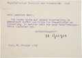 "Autographs:Inventors, Hans Geiger Typed Letter Signed ""H. Geiger."" One page, 5.75""x 4"", Department of Physics, University of Kiel, Octobe..."