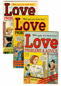 True Love Problems and Advice Illustrated/Romance Stories of True Love #1 and 3-52 File Copies Group (Harvey, 1949-58) C...