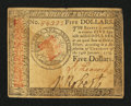 Colonial Notes:Continental Congress Issues, Continental Currency January 14, 1779 $5 Very Fine.. ...