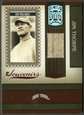 "Baseball Cards:Singles (1970-Now), 2005 Donruss Greats ""Souvenirs"" Jim Thorpe Giants Jersey SwatchCard. ..."