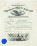 "Autographs:U.S. Presidents, William Taft Military Appointment Signed as president. Onepartially-printed vellum page, 15.25"" x 19.5"", ""City ofWashing..."