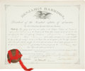 "Autographs:U.S. Presidents, Benjamin Harrison Document Signed as president. One page, 17"" x14"", Washington, July 29, 1890, appointing Augustus B. F..."