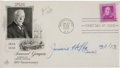 Autographs:Celebrities, Jimmy Hoffa First Day Cover Signed. The FDC is postmarked January27, 1950, Washington, D.C., and commemorates Samuel Gomper...