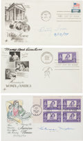 Autographs:U.S. Presidents, Three First Day Covers Signed by First Ladies Mamie DoudEisenhower, Betty Ford, or Patricia Nixon. All are postmarked from... (Total: 3 Items)