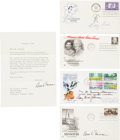 Autographs:U.S. Presidents, Four First Day Covers Signed by First Ladies Lady Bird Johnson,Mamie Doud Eisenhower, Betty Ford, and Bess W. Truman. Inclu...(Total: 4 Items)