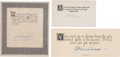 Autographs:Military Figures, Jimmy H. Doolittle, Eddie Rickenbacker, and Richard E. Byrd Quotations Signed. The quotations are written in another hand.... (Total: 3 Items)