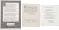 Autographs:Authors, Authors (Three) Clipped Signatures: Marjorie Kinnan Rawlings,Rudyard Kipling, and Alfred Tennyson. Each has been affixed to...(Total: 3 Items)