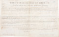 "Autographs:U.S. Presidents, James Monroe Land Grant Signed as president. One partially-printedvellum page, 15.5"" x 9.75"", ""City of Washington,"" Oct..."