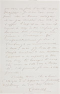 "Autographs:Inventors, Jean-Martin Charcot Autograph Letter Signed ""Charcot."" Twopages, 5.25"" x 8"", June 4, 1886, to ""Professor GrangerStew..."