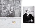 Autographs:Inventors, Jonas Salk and Albert Sabin First-Day Stamp Issue Signed, Together with a Sabin Photograph Signed. The first-day stamp issue... (Total: 2 Items)