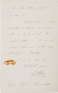 "Autographs:Inventors, George B. Airy Autograph Letter Signed. One page, 4.5"" x 7.25"",""Observatory,"" July 5, 1836. The English astronomer requ..."