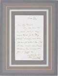 """Autographs:Inventors, John Tyndall Autograph Letter Signed. One page, 4.5"""" x 7"""", n.p.,""""Xmas Eve,"""" n.y., stating, """"I do not care much about..."""