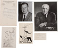 Autographs:Inventors, Scientists' Photographs, Letters, and Signatures, including a JamesVan Allen Photograph Signed, a Karl T. Compton Photograp... (Total:5 Items)