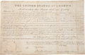 """Autographs:U.S. Presidents, John Quincy Adams Document Signed """"J. Q. Adams"""" as president. One partially-printed vellum page, 15.5"""" x 10"""", """"City of..."""