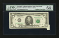 Error Notes:Attached Tabs, Fr. 1984-B $5 1995 Federal Reserve Note. PMG Choice Uncirculated 64EPQ.. ...
