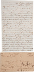 "Autographs:Military Figures, Confederate Letter with content on the Civil War from Virginia. Four pages, 5"" x 8"", ""North River, Hanover [Virginia..."