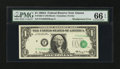 Error Notes:Shifted Third Printing, Fr. 1901-F $1 1963A Federal Reserve Note. PMG Gem Uncirculated 66 EPQ.. ...