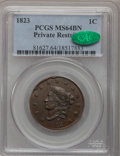 Large Cents, 1823 1C Restrike MS64 Brown PCGS. CAC. N-3, R.2....