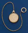 Timepieces:Pocket (post 1900), Rolex Cellini Pocket Watch With Gold Chain Original Boxes. ...