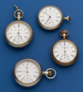 Timepieces:Pocket (post 1900), Four 18 Size Pocket Watches For Restoration. ... (Total: 4 Items)