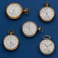 Timepieces:Pocket (post 1900), Five 16 Size American Parts Watches. ... (Total: 5 Items)