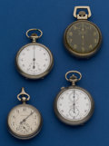 Timepieces:Other , Three Timers & One Antique Pedometer. ... (Total: 4 Items)