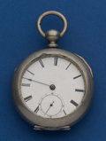 Timepieces:Pocket (pre 1900) , Waltham Model 57 Home Watch Co. Early 11 Jewel Key Wind. ...