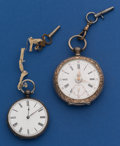 Timepieces:Pocket (pre 1900) , Two Swiss Silver Key Winds Pocket Watches. ... (Total: 2 Items)