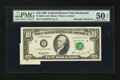 Error Notes:Attached Tabs, Fr. 2031-E $10 1995 Federal Reserve Note. PMG About Uncirculated 50EPQ.. ...