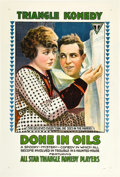 """Movie Posters:Comedy, Done in Oils (Triangle, 1917). One Sheet (27"""" X 41"""").. ..."""