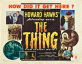 "Movie Posters:Science Fiction, The Thing from Another World (RKO, 1951). Half Sheet (22"" X 28"")Style B.. ..."